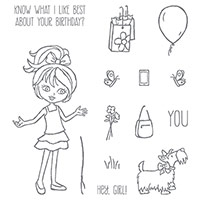 Hey, Girl Photopolymer Stamp Set