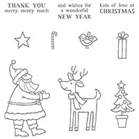 Santa's Gifts Photopolymer Stamp Set
