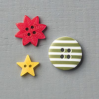Home For Christmas Designer Buttons