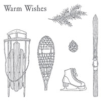 Winter Wishes Wood-Mount Stamp Set
