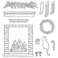 Festive Fireplace Photopolymer Stamp Set