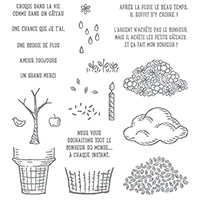 Parcelles De Vie Photopolymer Stamp Set (French)