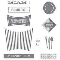 Pensées Sucrées Photopolymer Stamp Set (French)