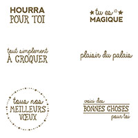 Plaisir Du Palais Clear-Mount Stamp Set (French)