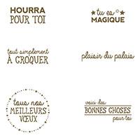 Plaisir Du Palais Clear-Mount Stamp Set (French)