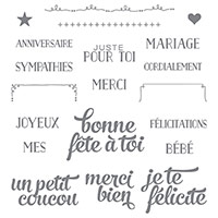 Coffret De Souhaits Photopolymer Stamp Set (French)