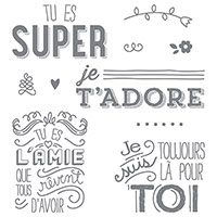 En Toute Amitié Clear-Mount Stamp Set (French)
