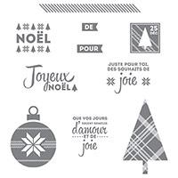 Que De La Joie Clear-Mount Stamp Set (French)