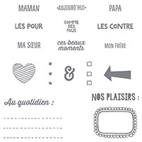 Project Life Les Joies Du Quotidian Photopolymer Stamp Set (French)