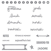 Project Life Ces Moments Là Photopolymer Stamp Set (French)