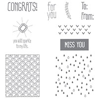 Sparkle & Shine Wood-Mount Stamp Set