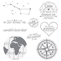 Going Global Wood-Mount Stamp Set