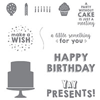 Party Wishes Clear-Mount Stamp Set