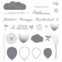 Bouquet De Ballons Photopolymer Stamp Set (French)