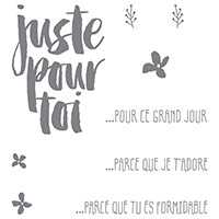 Des Fleurs Pour Toi Clear-Mount Stamp Set (French)