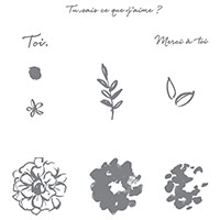 Ce Que J'aime Photopolymer Stamp Set