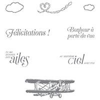 Dans Les Nuages Clear-Mount Stamp Set (French)
