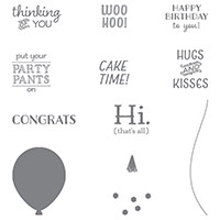 Party Pants Wood-Mount Stamp Set