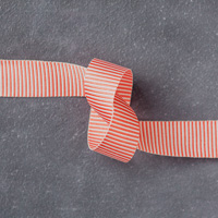 "Watermelon Wonder 5/8"" (1.6 Cm) Mini Striped Ribbon"