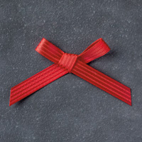 "Real Red 3/8"" (1 Cm) Stitched Satin Ribbon"