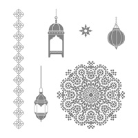 Moroccan Nights Wood-Mount Stamp Set