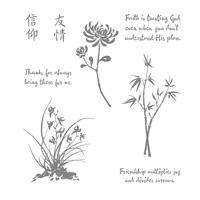 Artistically Asian Wood-Mount Stamp Set
