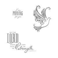 Strength & Prayers Clear-Mount Stamp Set