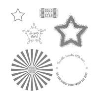 Superstar Wood-Mount Stamp Set