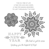 Frosted Medallions Wood-Mount Stamp Set