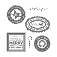 Holly Jolly Layers Clear-Mount Stamp Set