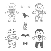 Cookie Cutter Halloween Clear-Mount Stamp Set