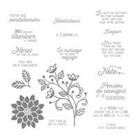 Éclosion De Pensées Clear-Mount Stamp Set (French)