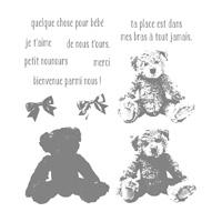 Bébé Ourson Photopolymer Stamp Set (French)