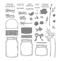 Petit Pot D'amour Photopolymer Stamp Set (French)