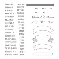 Banderoles Bavardes Photopolymer Stamp Set (French)