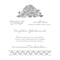 Florale Grüße Clear-Mount Stamp Set (German)