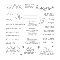 Coffret De Souhaits Design Photopolymer Stamp Set (French)
