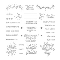 Designer-Grußelemente Photopolymer Stamp Set (German)