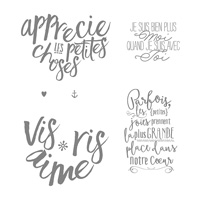 Bonne Couche D'amour Clear-Mount Stamp Set (French)